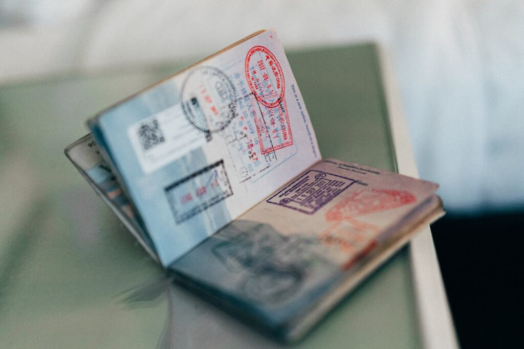 Open Passport Book