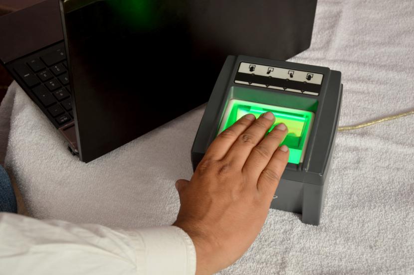 fingerprints taken for a biometric appointment
